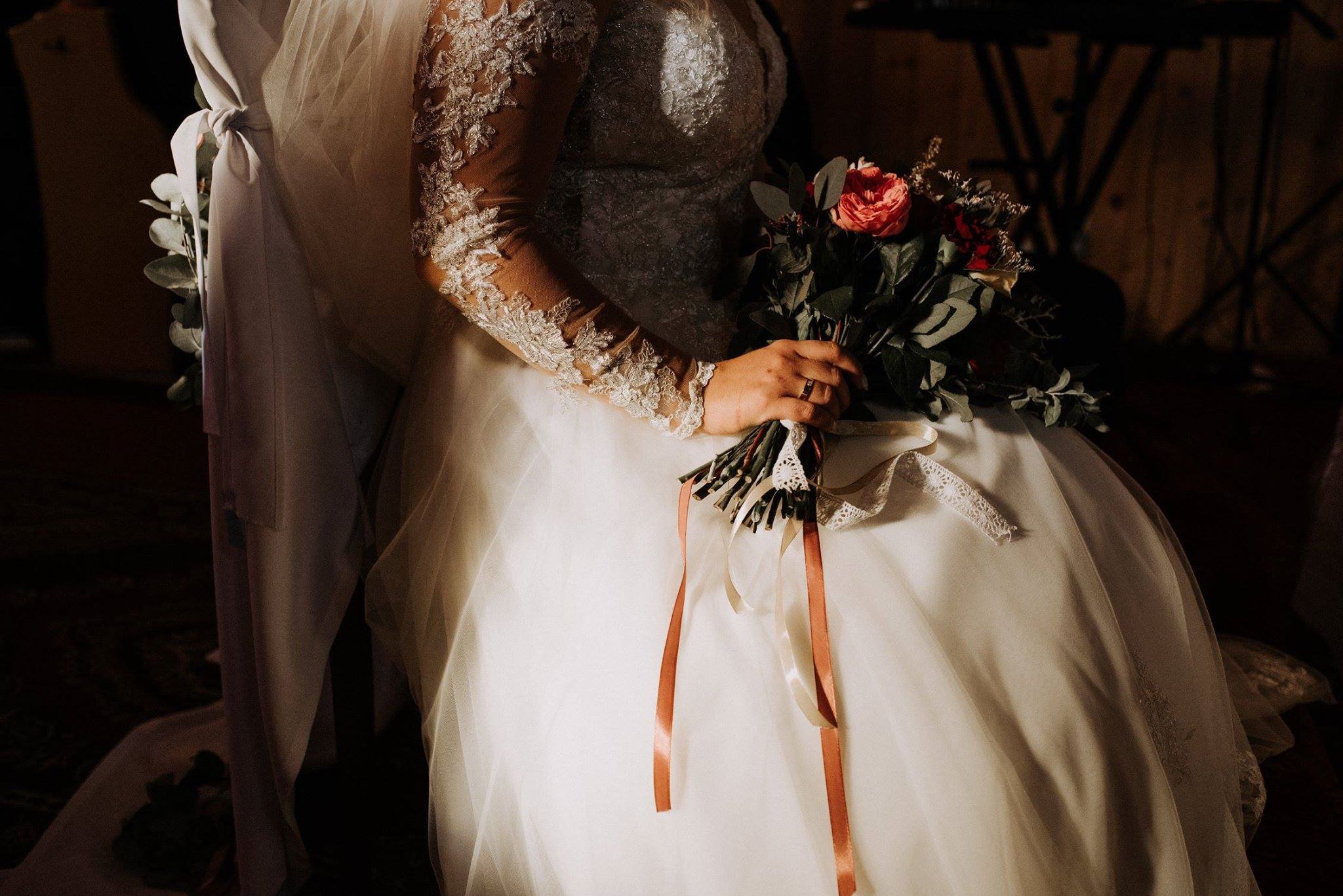 ładny bukiet ślubny